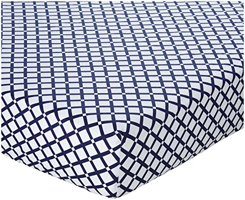 Oliver B Crib Sheet - Navy Checks