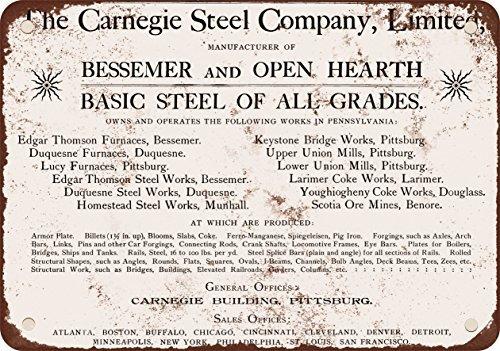 1896-carnegie-reproduccion-de-acero-empresa-aspecto-vintage-metal-placa-metalica-12-x-18-inches