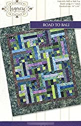 "Road to Bali Quilt Pattern No. LEG9301 by Legacy Patterns Jelly Roll 2.5"" Strip & Batik Friendly 54"" x 64"" Finished Size"