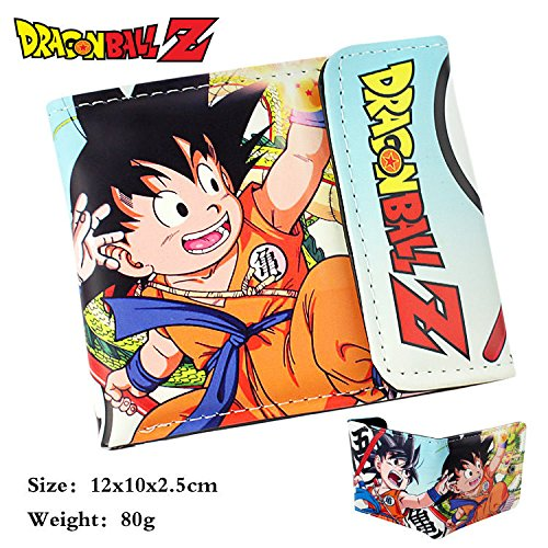 Anime DRAGON BALL Z DBZ Son Goku Figure bifold leather Short ID Wallet Purse new