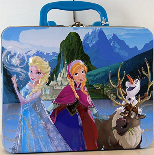 Disney Frozen Elsa & Anna Metal Lunch Box with 48-Piece Puzzle