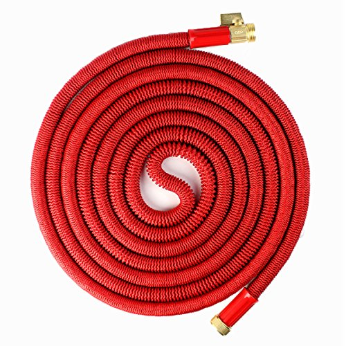 Updated Red 25' Expanding Hose, Strongest Expandable Garden