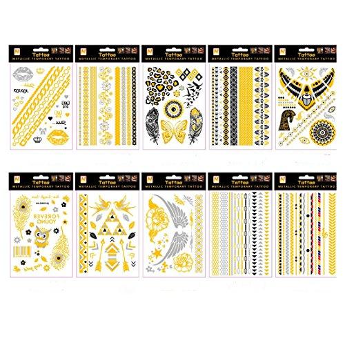 wallner-oro-argento-metallizzato-adesivo-bracciale-gioielli-tatuaggio-confezione-da-10-fogli-a3