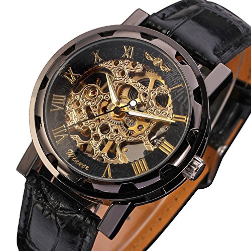Mens-Mechanical-Wrist-Watch-with-Elegant-Skeleton-Dial-Black