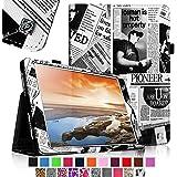 Fintie Lenovo Yoga 10 / Yoga 10 HD+ Hülle Kunstleder Schutzhülle Tasche Tablet Zubehör - Premium Case Cover mit Standfunktion und Stylus-Halterung (Für Yoga Tablet 10,1 Zoll / Yoga Tablet 10,1 Zoll HD+), Zeitung