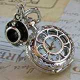 Apparel & Shoes Online Shop Ranking 28. Alice in Wonderland Tea Party Steampunk pocket watch necklace pw1