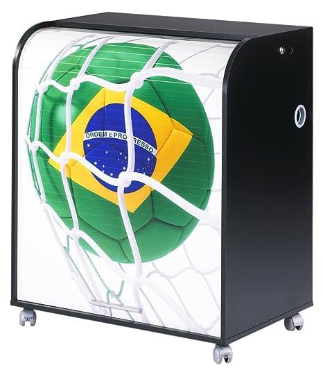 Simmob MUST095NO958 958 Pallone del Brasile-Coppa del mondo informatico legno, 53,2 x 79,2 x proprietà al 93,8 cm