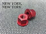 【NEW YORK,NEW YORK】カメレオンハブナット/レッド 2個1セット[自転車][ピスト/ピストバイク/シングルスピード/カスタムパーツ]