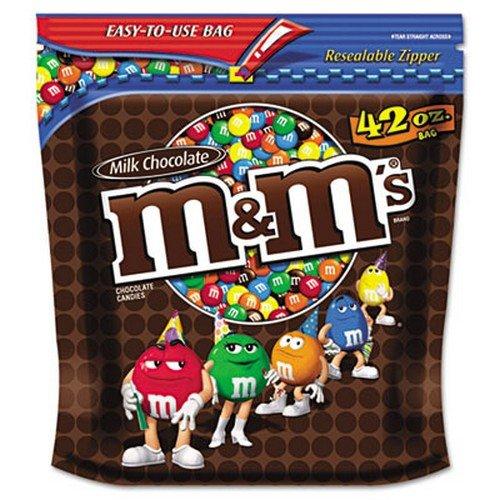 Advantus M&M Plain Chocolate Candy 6 BG/CT