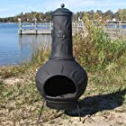 Chiminea Outdoor Fireplace - Blue Rooster ALCH072 - Sun Ray Chiminea Outdoor Fireplace - Charcoal