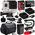 GoPro HD Hero3+ Hero 3+ Black Edition (CHDHX302) with Essential Special Edition Bundle Accessory Kit includes - 32GB MicroSD + (2) Battery + Charger + European Adapter + Action Grip Handle + Case + HDMI Cable + Floating Strap + Tripod Adapter Mount + Cleaning Kit