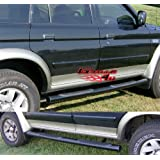 APS NB-M3224B Black Coated Nerf Bar Bolt Over for select Mitsubishi Montero Sport1999-2003 Models