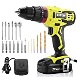 CACOOP 20V Electric Cordless Drill ScrewDriver With 2000mA Lithium-Ion Battery, 2-Speed, ½