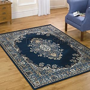 Lancaster Traditional Rugs in Navy by Balta