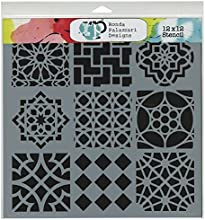 Crafters Workshop Template 12 by 12-Inch Moroccan Tiles