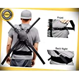 41.75'' Dual Two Ninja Swords with X Back Harness Carrying Scabbard perfect for cosplay outdoor camping