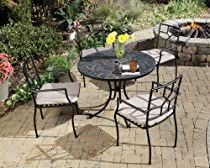 Hot Sale Home Styles 5601-3081 Stone Harbor 5-Piece Outdoor Dining Set, Slate Finish