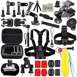 Iextreme 45 en 1 Kit d'accessoires pour Caméra GoPro 5/4/3/2/1 Accessoires Bundle Ensemble pour le Camping Plongée Montagne Cyclisme Octopus Trépied+Selfie Stick+Poignée Flottante+Cas et Autres Accessoires