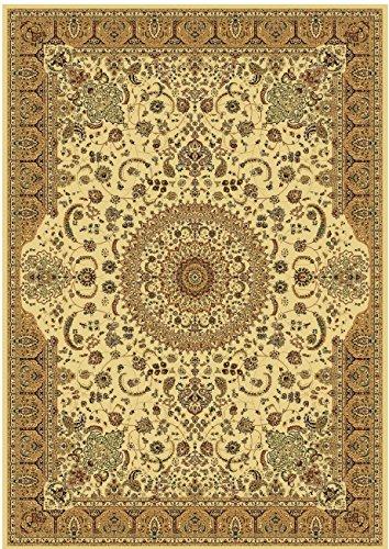Stunning Silk Rug Persian Traditional Area Rugs 8x12 Rug 8x11 Living Room Carpet Ivory Rugs Luxury 5x8 Silk Brand High Density Rug Hallway Stair Runner Rugs (Large 8'x12')