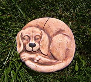 Dog concrete mold plaster mold plaque stepping stone mould