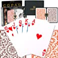 Copag Poker Size Regular Index - Orange and Brown Setup Playing Cards (Multi)
