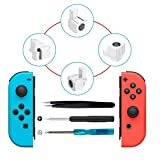 Joy-Con Units Rail Mechanism Metal Lock Buckles Latches Repair Tool Kit with Screwdrivers, Tweezer, Left and Right Joy-Con Replacement Parts for Nintendo Switch