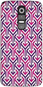 Snoogg Tube Well Designer Protective Back Case Cover For LG G2