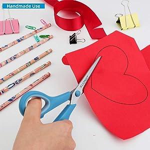 KUONIIY 8 Multi-Purpose Scissors 3 Pack, Comfort-Soft Grip Handles
