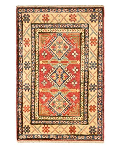 eCarpet Gallery One-of-a-Kind Hand-Knotted Gazni Rug, Red, 3' 4 x 5' 1