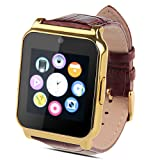 Padgene Bluetoot/Sim Card Smart Wrist Watch, Tracker for Kids, for Samsung S3 / S4 / S5 / Note 2 / Note 3 / Note 4, HTC, LG and Other Android Smartphones, Gold (Color: GOLD)
