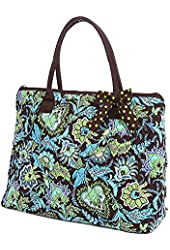 Belvah Quilted Floral Large Tote Bag