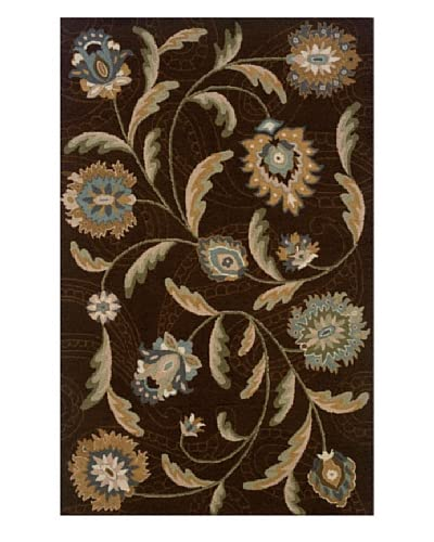 Granville Rugs Floral Garden Rug
