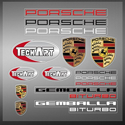 Encell PVC Auto Sticker Decal Emblem Badge For Porsche