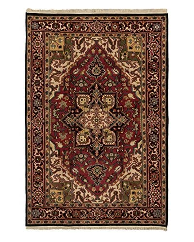 Hand-Knotted Royal Heriz Wool Rug, Red, 5' 11 x 8' 10
