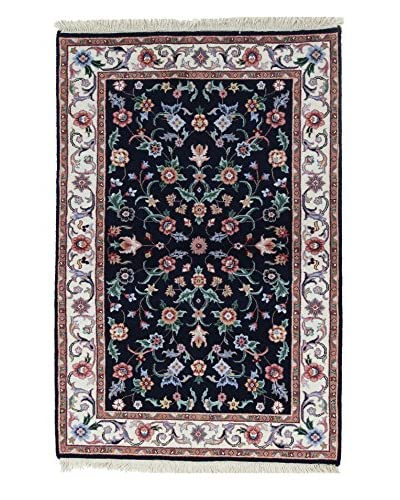 Bashian Rugs Khand Knotted One-of-a-Kind Tibetan Rug, Dark Blue, 4' 1 x 6' 1