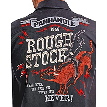 Panhandle Slim Men's Rough Stock By Vintage Bull Rider Logo Western Shirt - R0f9267-01