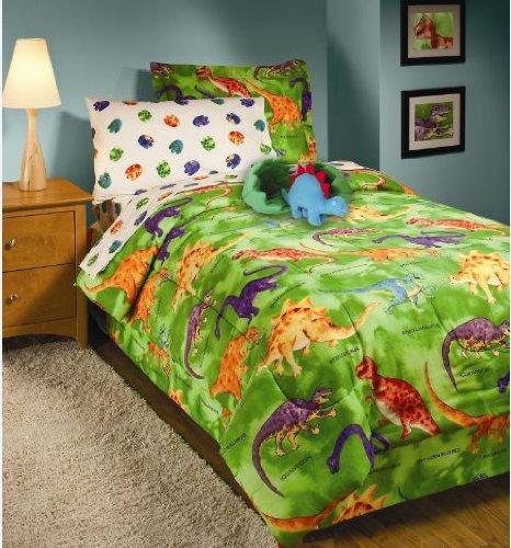 Crayola Dinosaur Twin Comforter Amp Sheet Set 6 Piece Bed