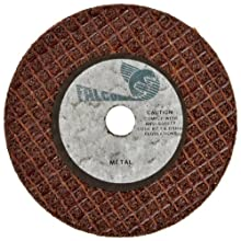 Falcon A24TBE Extra Tough Resinoid Bonded Double Reinforced Grinding and Snagging Abrasive Cut-off Wheel, Type 1, Aluminum Oxide