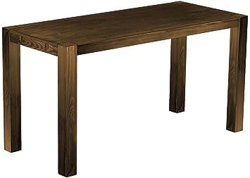Brasil Mobili alto tavolo 'Rio Kanto' 208x 90x 109cm, Bonito in legno massiccio di pino, tinta rovere antico