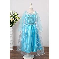 Santana Fashion Girls Snow Queen Costume Snow Princess Dresses - F2-Elsa (US-7/8 Elsa)