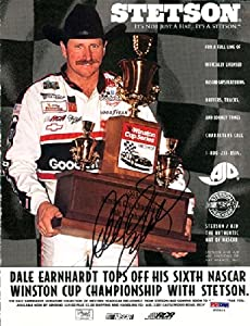 Dale Earnhardt Autographed Hand Signed Magazine Page Photo PSA DNA #S00404 by Hall of Fame Memorabilia
