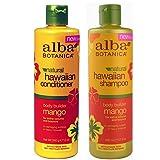 Alba Botanica, natural Hawaiian Shampoo and Conditioner, Mango, 12-Ounce Bottle (Tamaño: DOU Pack, Shampoo + Conditioner)