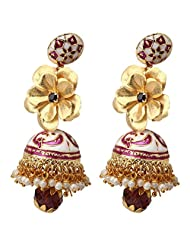 Aarya 24kt Gold Foil Flower Earring Jhumki For Women