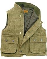 D6 Childrens Derby Tweed Hunting Shooting Kids Vest Gilet Bodywarmer