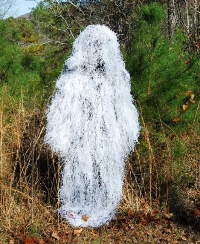 Ghillie Paintball Ultra Light Synthetic Poncho Winter White