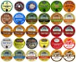 30-count Top Brand Coffee, Tea, Cider, Hot Cocoa and Cappuccino K-Cup Variety Sampler Pack, Single-Serve Cups for Keurig Brewers from Crazy Cups