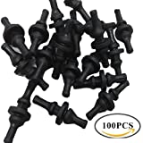 MuMu 100 PCS Black Fan Mounting Screws Rivets Silicone Rubber for PC Computer
