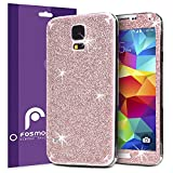 Fosmon SHINING-DIAMOND Front + Back Protective Skin with Clear Screen Protector Shield for Samsung Galaxy S5 (Pink)