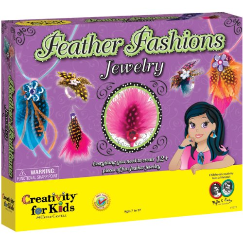 Creativity for Kids Feather Jewelry Kit