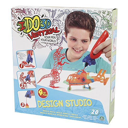 Giochi Preziosi - I Do 3D Gioco Vertical Design Studio, Set con 4 Penne 3D ed Accessori